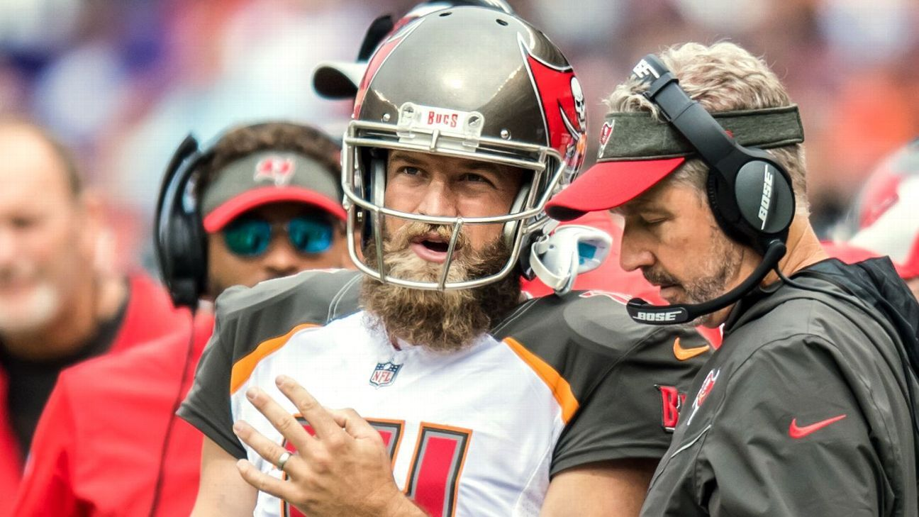 At 3-6, Tampa Bay's playoff hopes look bleak, but its embattled coach is keeping Jameis Winston on the bench in an effort to spark a turnaround.