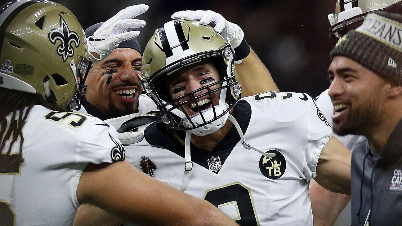 Drew Brees passes Peyton Manning as NFL's all-time passing leader