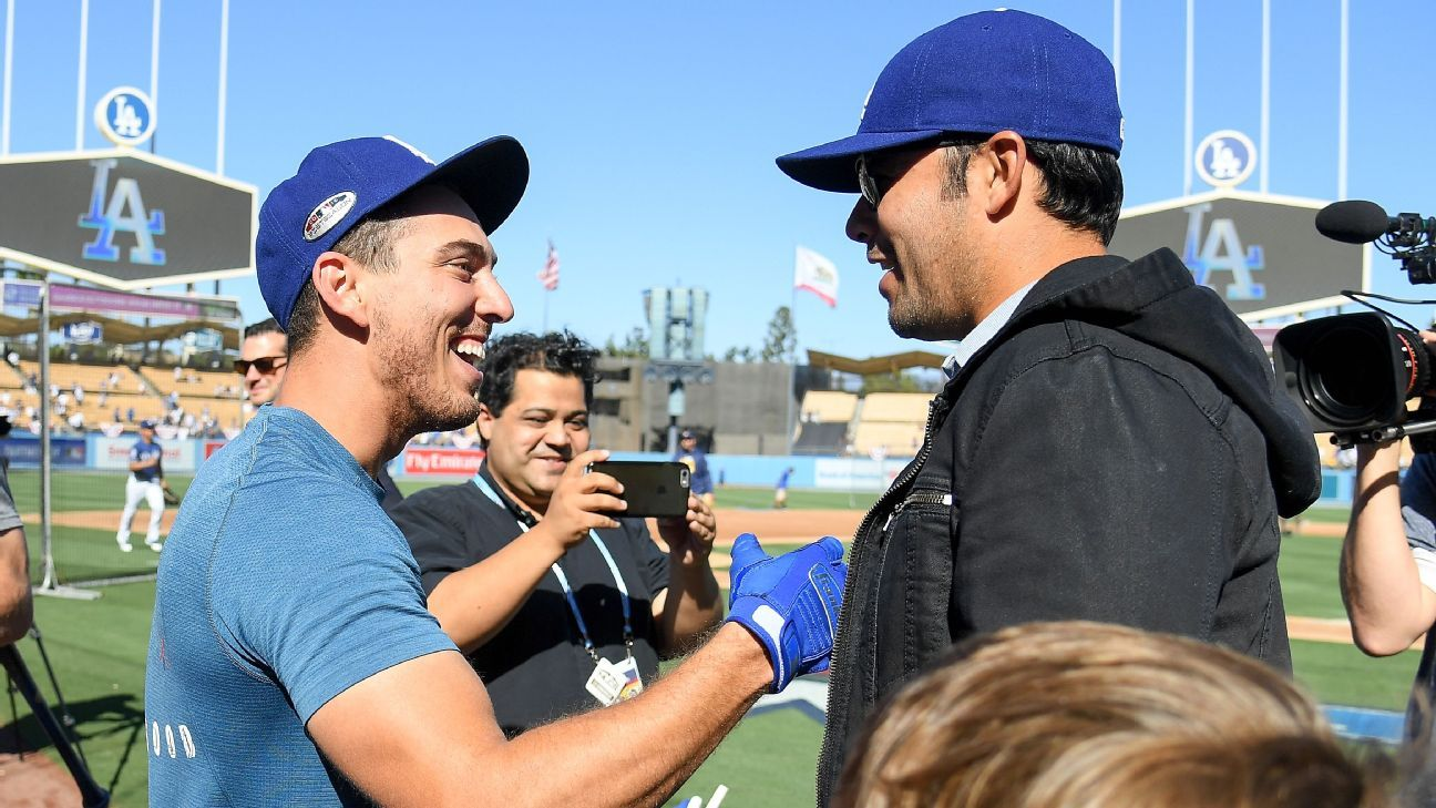 Celebrities spotted at Game 3 of the NLCS at Dodger Stadium