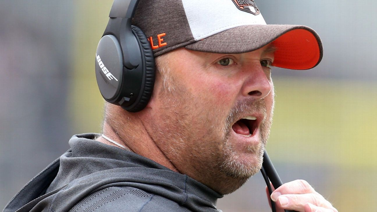 Browns offensive coordinator Freddie Kitchens said Thursday he has no problem with any of Baker Mayfield's recent statements about former coach Hue Jackson, including an Instagram response when Mayfield called Jackson