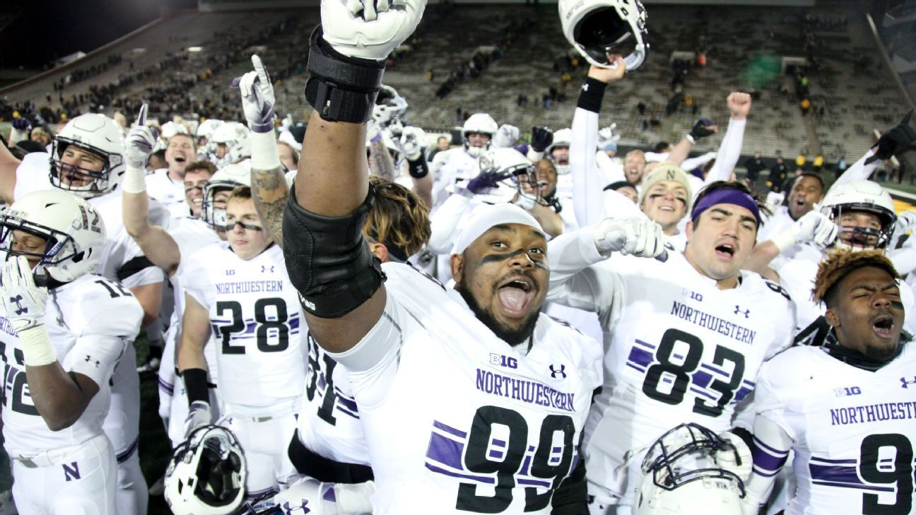 The day after earning a spot in the Big Ten championship game, Northwestern is ranked in The Associated Press college football poll for the first time this season.