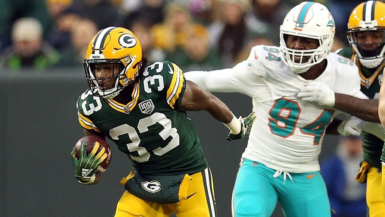 Aaron Jones rushed for a career-high 145 yards and two TDs, making a compelling case that he should carry a bigger load in the Packers' offense.