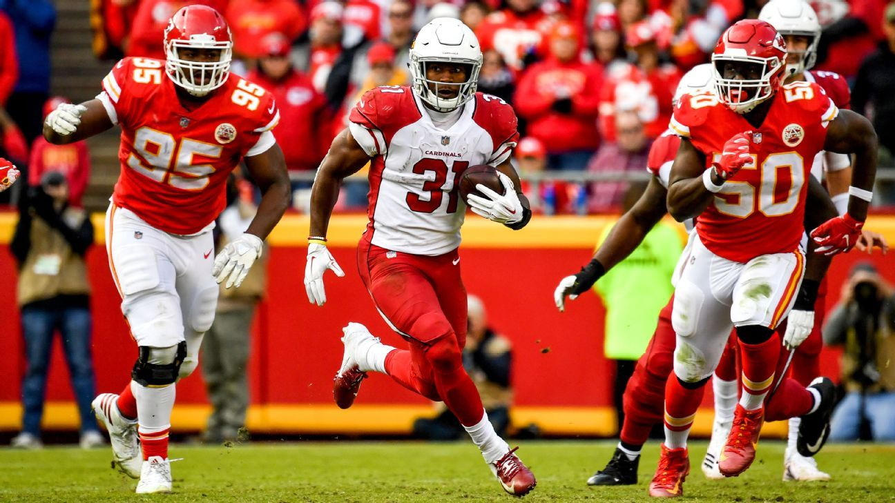 David Johnson has hit the century mark for all-purpose yards two weeks in a row, netting a season-best 183 against the Chiefs.