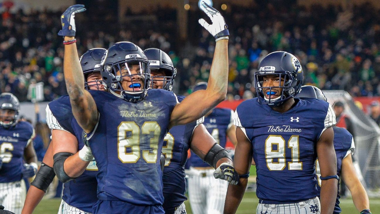 d4485b1fd Notre Dame Fighting Irish cement themselves as College Football Playoff  contenders
