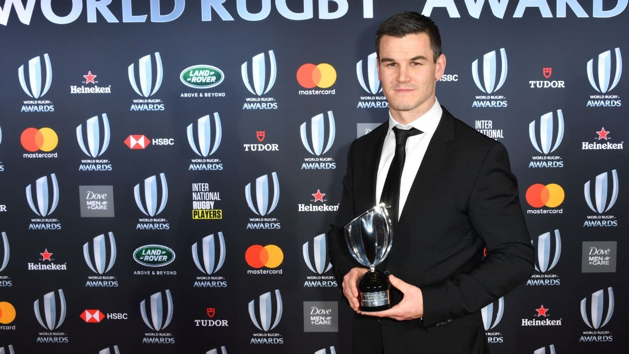 Johnny Sexton wins 2018 World Rugby Player of the Year Award
