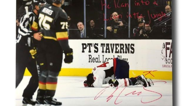 Knights: Signed photos of Ryan Reaves' hit on Tom Wilson 'destroyed'