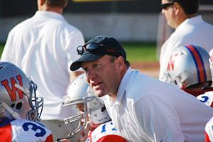 Ross Ehlinger coaching youth football
