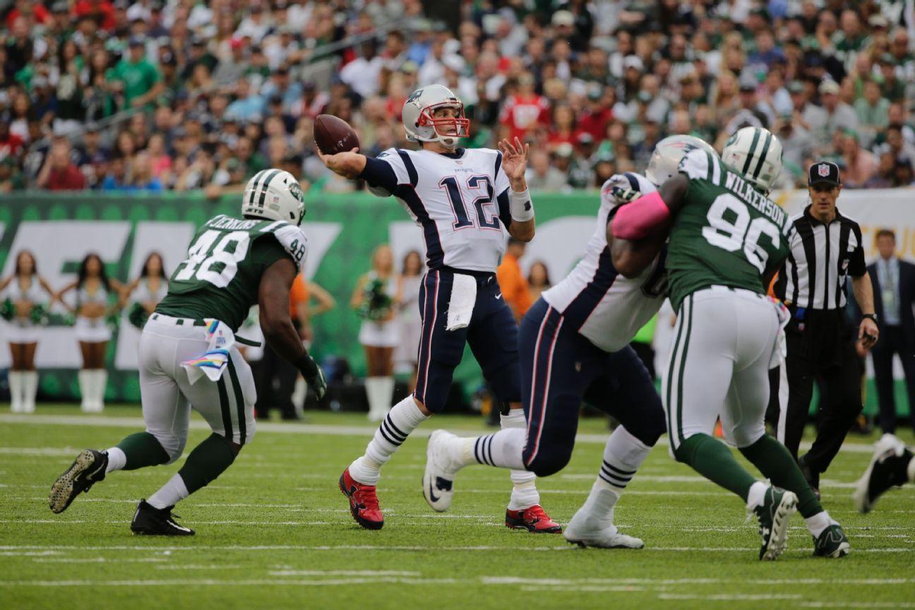 Tom Brady consiguió la victoria N° 187 en temporada regular de su carrera sobre los New York Jets.