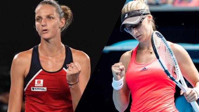 (5) K. Pliskova vs. M. Lucic-Baroni (Women's Quarterfinals)