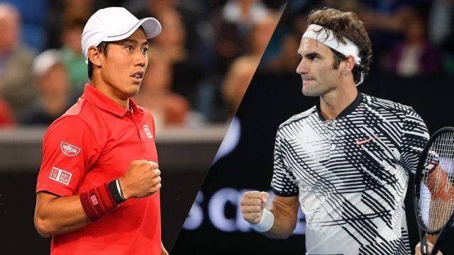 (5) K. Nishikori vs. (17) R. Federer (Men's Round of 16)