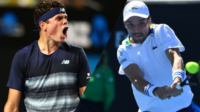 (3) M. Raonic vs. (13) R. Bautista Agut (Men's Singles Round of 16)