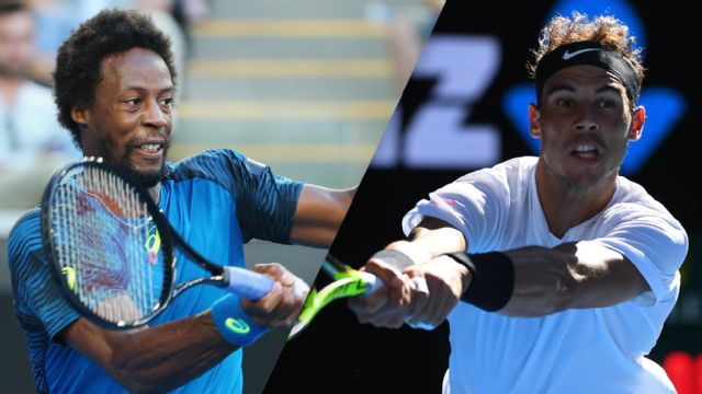 (6) G. Monfils vs. (9) R. Nadal (Men's Singles Round of 16)