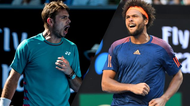 (4) S. Wawrinka vs. (12) J. Tsonga (Men's Quarterfinals)