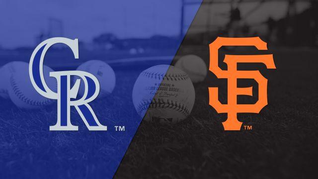 Colorado Rockies vs. San Francisco Giants