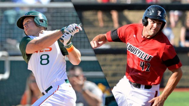 #16 Miami (FL) vs. #20 Louisville (Baseball)