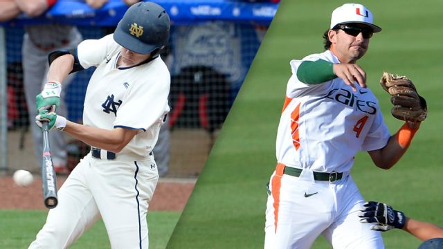 Notre Dame vs. #8 Miami (FL) (Pool Play Round) (ACC Baseball Championship)