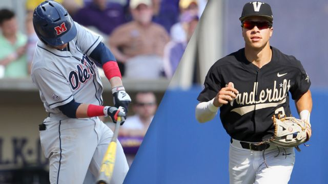 #10 Ole Miss vs. #6 Vanderbilt (Third Round) (SEC Baseball Tournament) (re-air)