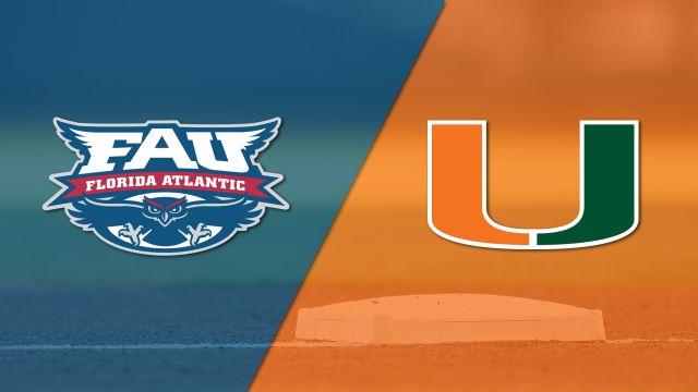 Florida Atlantic vs. Miami (Baseball)