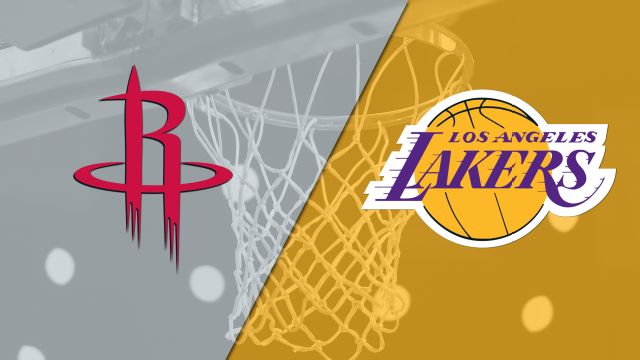 In Spanish - Houston Rockets vs. Los Angeles Lakers