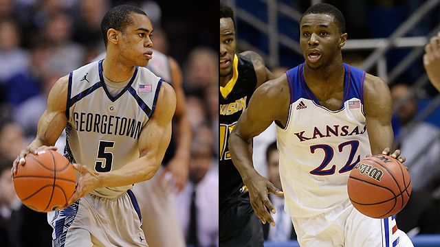 Georgetown vs. #18 Kansas