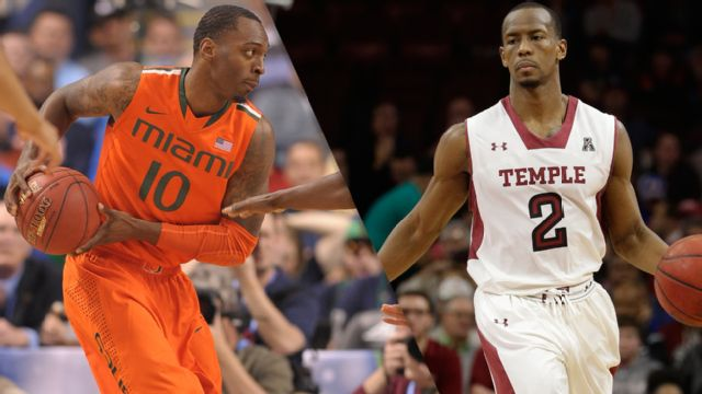 #2 Miami (FL) vs. #1 Temple (Semifinal #1) (NIT)