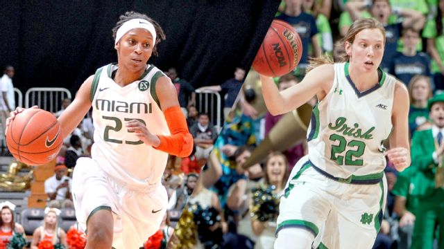 #19 Miami (FL) vs. #3 Notre Dame (W Basketball)