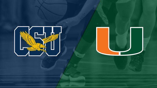 Coppin State vs. #11 Miami (W Basketball)