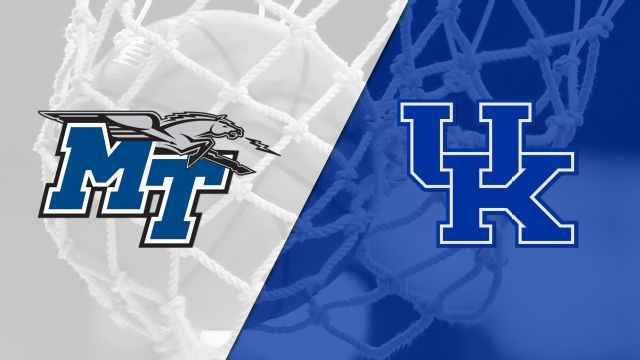 Middle Tennessee State vs. #15 Kentucky (W Basketball)