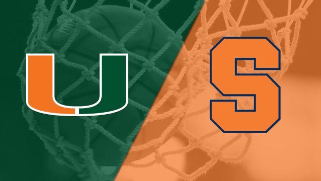 #14 Miami vs. Syracuse (W Basketball)