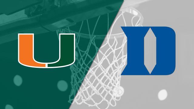 #16 Miami vs. #13 Duke (Semifinal #2) (ACC Women's Tournament)