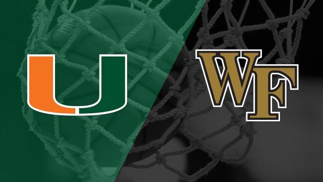 #16 Miami vs. Wake Forest (W Basketball)