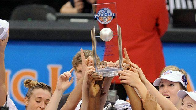 Pac-12 Women's Basketball Tournament Trophy Presentation