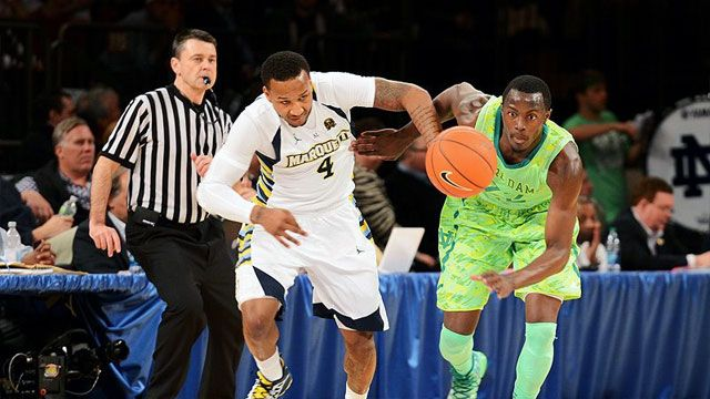 #24 Notre Dame vs. #12 Marquette (Quarterfinal #4): BIG EAST Men's Basketball Championship