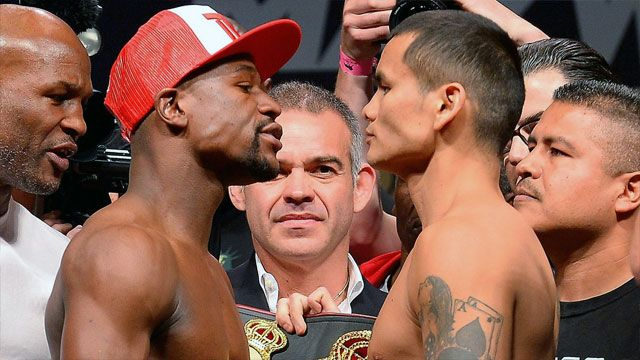 Floyd Mayweather vs. Marcos Maidana - Official Weigh-In