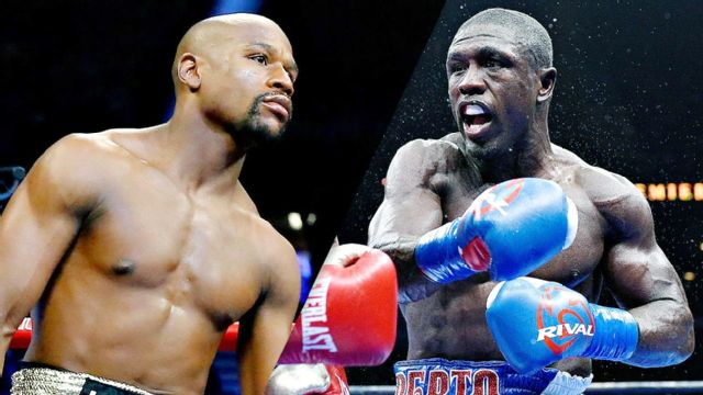 Floyd Mayweather vs. Andre Berto - Official Weigh-In