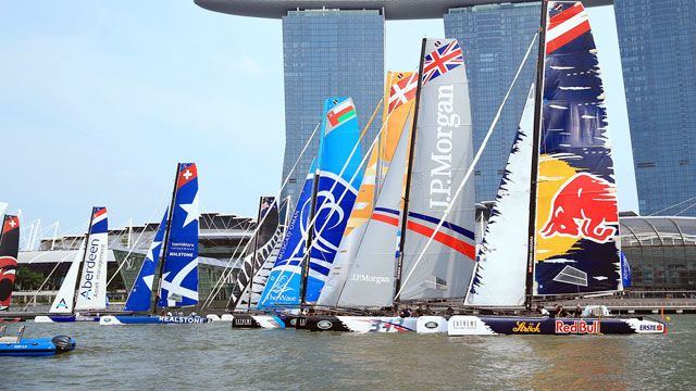 Extreme Sailing Series- Act 1: Singapore
