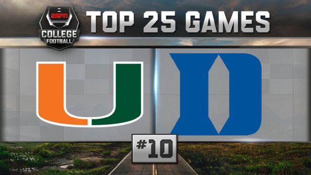 Miami (FL) vs. Duke (Football) (re-air)