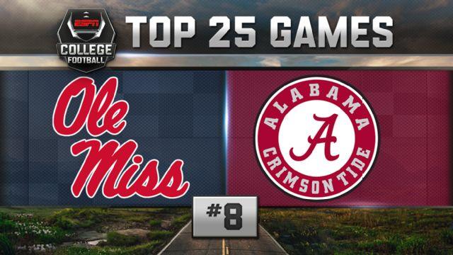 Ole Miss vs. Alabama (Football) (re-air)