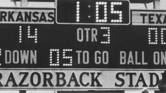 Texas Longhorns vs. Arkansas  - 12/6/1969
