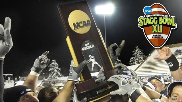 NCAA Division III Football Championship Trophy Presentation