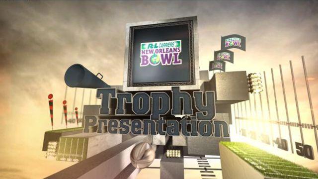 2014 R+L Carriers New Orleans Bowl Trophy Presentation