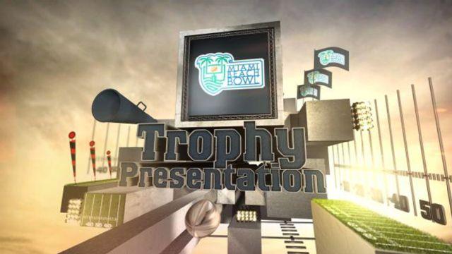 2014 Miami Bowl Game Trophy Presentation