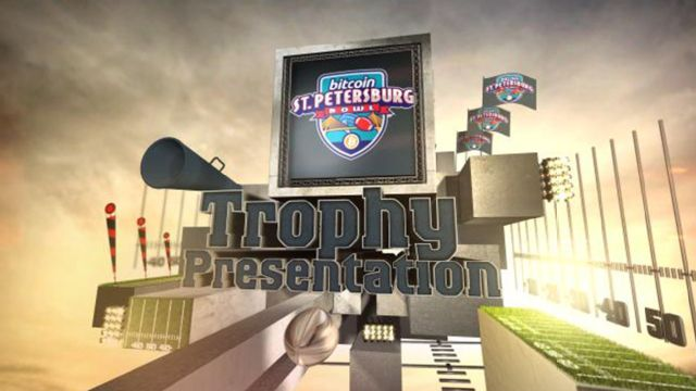 2014 Bitcoin St. Petersburg Bowl Trophy Presentation