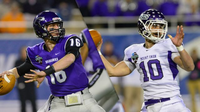 Wisconsin-Whitewater vs. Mount Union (OH) (Championship) (NCAA Division III Football)