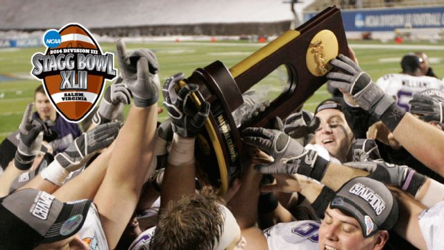 2014 NCAA Division III Football Championship Trophy Presentation