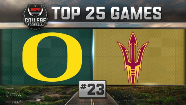 Oregon vs. Arizona State (Football) (re-air)