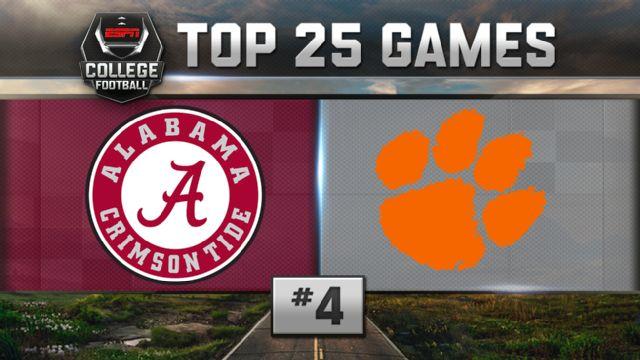Alabama vs. Clemson (Football) (re-air)