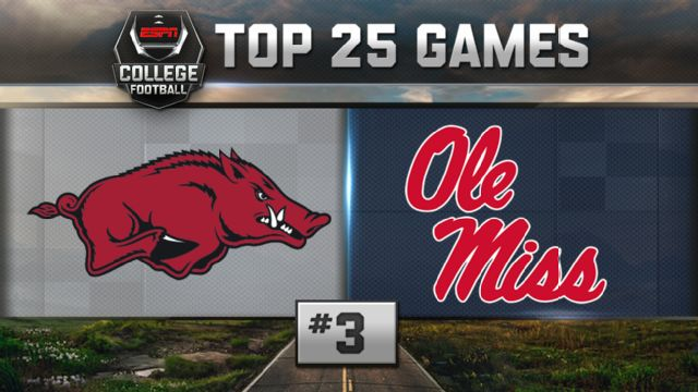 Arkansas vs. Ole Miss (Football) (re-air)
