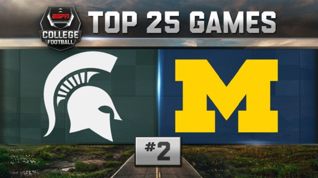 Michigan State vs. Michigan (Football) (re-air)