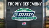 Marathon MAC Football Championship Trophy Ceremony